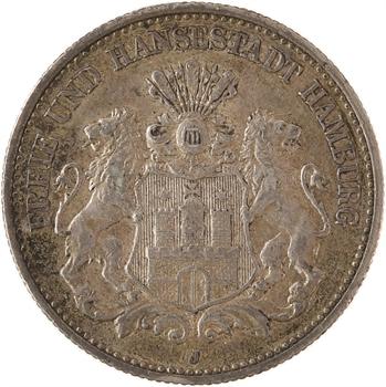 Allemagne, Hambourg (ville libre de), 2 mark, 1906 Hambourg