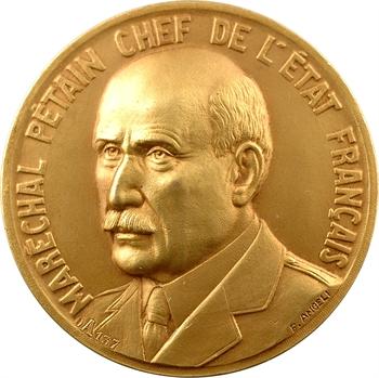 IIe Guerre Mondiale, tournoi militaire d'escrime, 1er prix, par F. Angeli, 1942 Paris