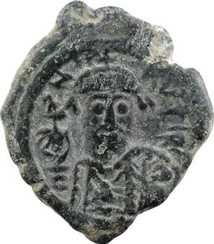 Maurice-Tibère, demi-follis, Constantinople, 1re officine, An 6 = 587-588