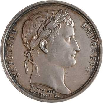 Premier Empire, le sacre de Napoléon Ier, détournée en médaille de mariage, An XIII (1804/1813) Paris