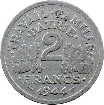 État Français, 2 francs francisque, 1944 Castelsarrasin
