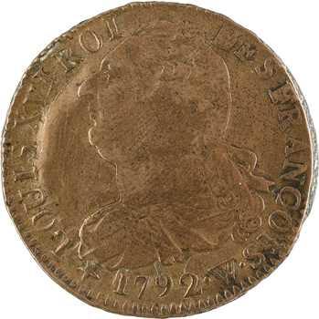 Constitution, 2 sols FRANÇOIS, An 4, 1792 Lille