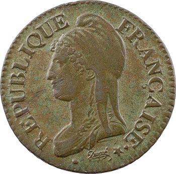Directoire, cinq centimes Dupré, An 8 Strasbourg