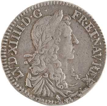 Louis XIV, douzième d'écu au buste juvénile, 1663 Aix-en-Provence