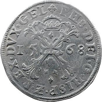 Pays-Bas, Gueldre, Philippe II, écu de Bourgogne, 1568