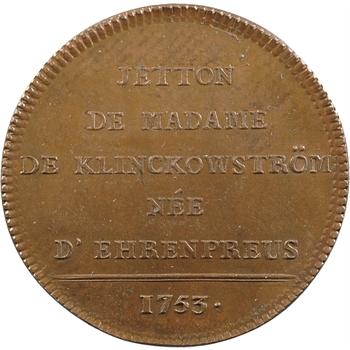 Suède, Madame de Klinckowström, 1753 Paris ?