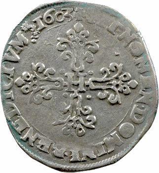 Henri IV, demi-franc au lis, 1603 Villeneuve-lès-Avignon