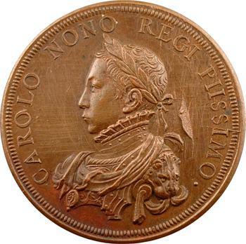 Charles IX, médaille par Antoine Brucher, 1564 (frappe postérieure) Paris