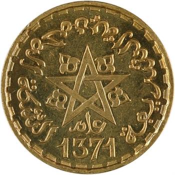 Maroc, Mohammed V, essai de 10 francs, AH 1371 (1952) Paris