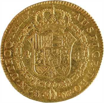 Espagne, Charles IV, 4 escudos, 1795 Madrid