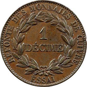 Louis-Philippe I, essai du décime, refonte des monnaies de cuivre
