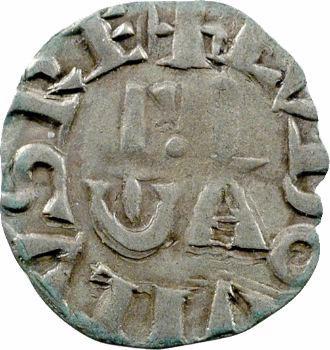 Louis VII, denier 1er type, Pontoise
