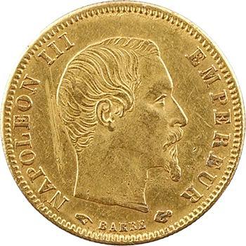 Second Empire, 5 francs tête nue, grand module, 1858 Paris