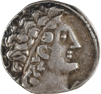 Égypte, Ptolémée X  Alexandre et Cléopâtre Bérénice, tétradrachme, Alexandrie, RY 24 = 91-90 av. J.-C