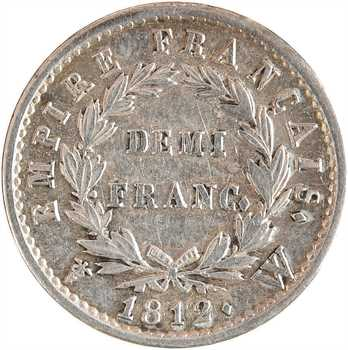 Premier Empire, demi-franc Empire, 1812 Lille
