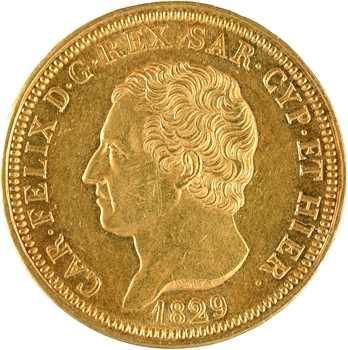 Italie, Savoie-Sardaigne, Charles-Félix, 80 lire, 1829 Gênes