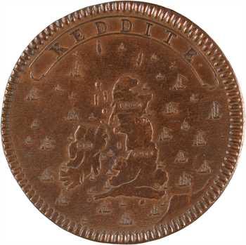 Grande Bretagne, Jacques III, le traité de paix de Gertruydenberg (Mont-Sainte-Gertrude), par Roëttiers, s.d. (1710)