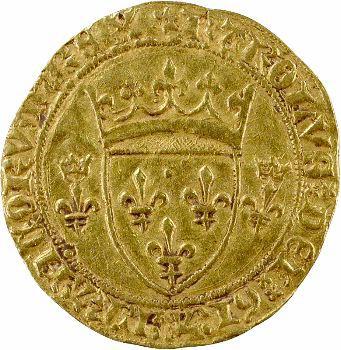 Charles VII, écu d'or à la couronne 3e type ou écu neuf, Saint-Quentin