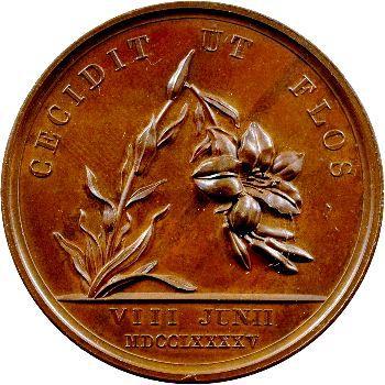 Louis XVII, médaille commémorative, époque Restauration