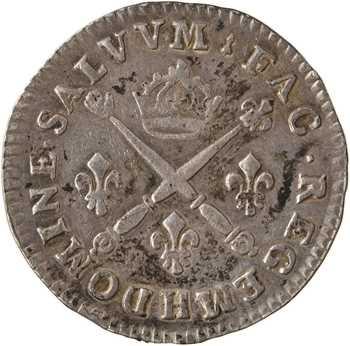 Louis XIV, pièce de dix sols aux insignes, 1703 La Rochelle