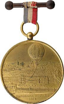 IIIe République, ascension en ballon captif à vapeur, 1878 Paris