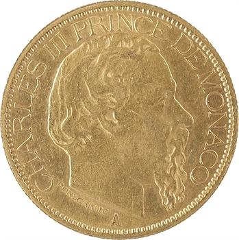 Monaco, Charles III, cent francs or, 1882 Paris