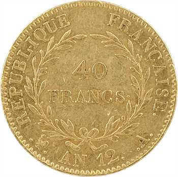 Consulat, 40 francs, An 12 Paris