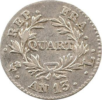 Premier Empire, quart de franc, An 13 Bayonne