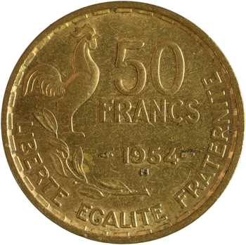 IVe République, 50 francs Guiraud, 1954 Beaumont-le-Roger
