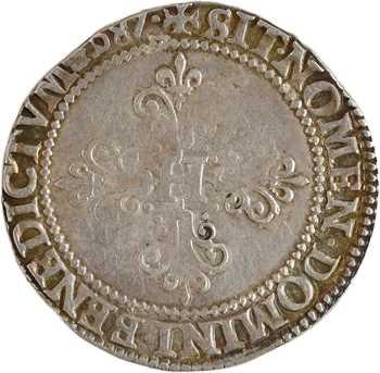 Henri III, demi-franc au col plat, 1587 Saint-Lô