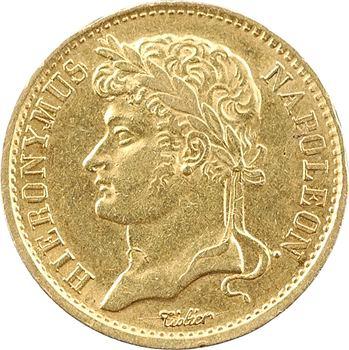 Allemagne, Westphalie (royaume de), Jérôme Napoléon, 20 franken, 1809 Cassel
