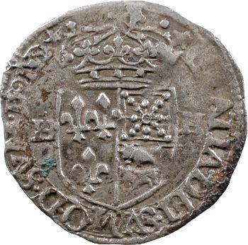 Henri IV, douzain de Béarn 1er type, 1591 Morlaàs