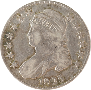 États-Unis, 50 cents ou demi-dollar Capped bust, 1825 Philadelphie