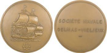 Lot de 2 médailles : Société Navale Delmas-Viel (s.d.) + Comité Central des Armateurs, 1953 Paris