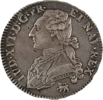Louis XVI, demi-écu aux branches d'olivier, 1792, 1er semestre, Paris