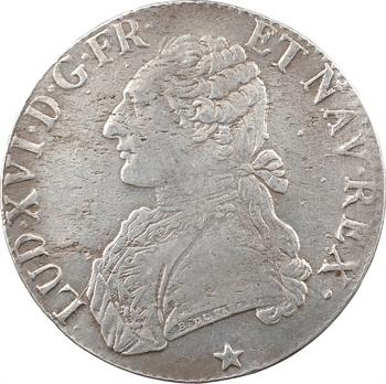 Louis XVI, écu aux branches d'olivier, 1788 Lille