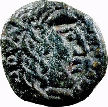 Carnutes, bronze à l'aigle et à l'aiglon, c. Ier s. av. J.-C.