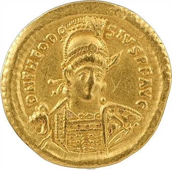 Théodose II, solidus, Constantinople, 8e officine, 431-432