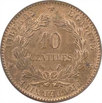 IIIe République, 10 centimes Cérès, 1887 Paris