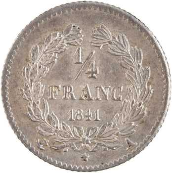 Louis-Philippe Ier, 1/4 franc, 1841 Paris