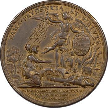 Allemagne, Prusse, Frédéric II, la bataille de Prague, par Holtzhey, 1757