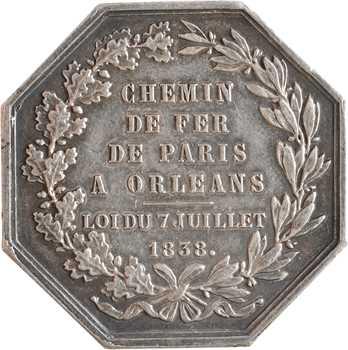 Bovy (A.) : le chemin de fer de Paris à Orléans, 1838 (post.) Paris