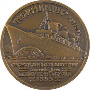 Vernon (J.) : Compagnie Générale Transatlantique, paquebot Normandie, dans sa boîte, 1935 Paris