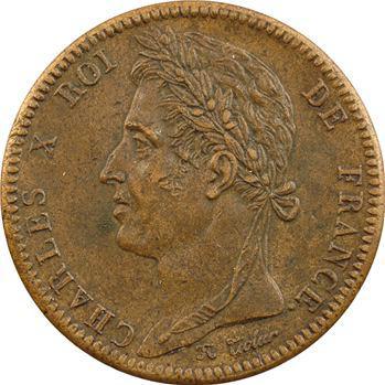 Charles X, 10 centimes pour les colonies, 1825 Paris