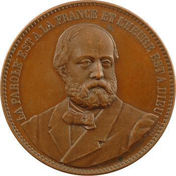 Henri V, module de 5 francs, visite des Légitimistes à Anvers, par Tasset, s.d. (1872) Paris