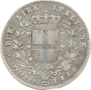 Italie, Savoie-Sardaigne, Victor-Emmanuel II, 2 lire, 1860 Florence