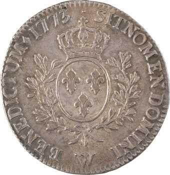Louis XV, écu à la vieille tête, 1773 Lille