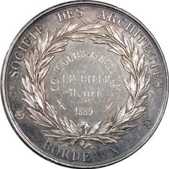 IIIe République, société des architectes de Bordeaux, 1889 Paris