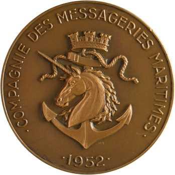 Égypte, Compagnie des Messageries maritimes, Ferdinand de Lesseps, dans sa boîte, 1952 Paris