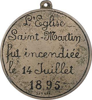 Saint-Dié (Vosges), incendie de l'église suite au feu d'artifice du 14 juillet, 1895